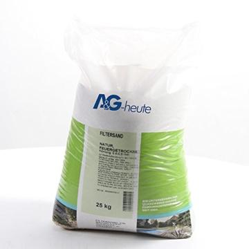 25Kg Filtersand 0.4-0.8 mm Poolfilter Quarzsand für Sandfilteranlage -