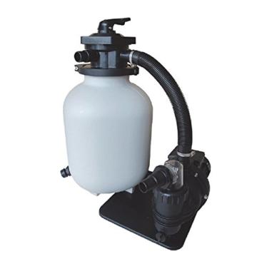 AquaForte Sandfilterset SQ300-Junior für 35m³ Schwimmbad, Pumpe 7,5m³/h, 250W -