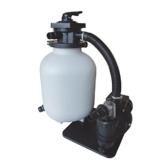 Pool Filteranlagen AquaForte Sandfilterset SQ460-Junior für 60m³ Schwimmbad, Pumpe 10m³/h, 550W -