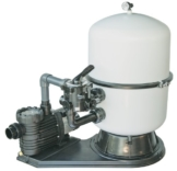 Bilbao Sandfilteranlage 400mm Kessel mit Aqua Plus 8 Pumpe 8m³/h 230V 0,6kW -