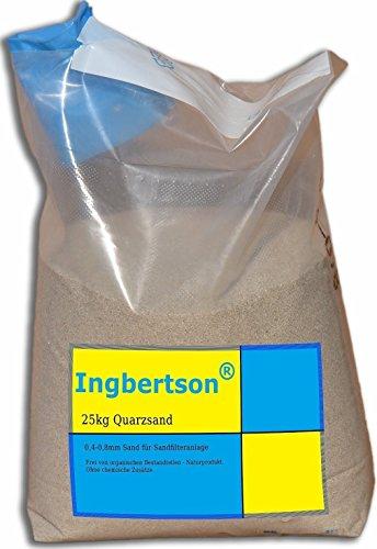 Ingbertson® 25kg Quarzsand 0,4-0,8mm Sand für Sandfilteranlage -
