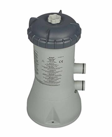 Intex 28604GS Kartuschenfilteranlage Typ ECO 2270GS, TÜV/GS, grau, 2.271 l/h /55 W/230/12 V -