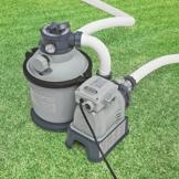 """Intex 28644GS Sandfilter, 4,0m³/h, Kessel Durchmesser 254 mm, 230 V, 190 W,12 kg Sand Timer, Anschlussschlauch mit 2""""AG, Wanddurchführung, Absperrhahn -"""