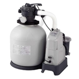 Intex Sandfilteranlage Krystal Clear 10 m³ & Salzwassersystem, grau, 8,000 l/h / 750 W / 230 V -