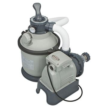 Intex Sandfilteranlage Krystal Clear 4 m³, Grau, 4.000 l/h / 190 W / 230 V -
