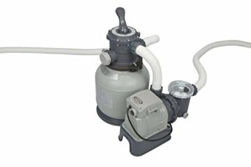 Intex Sandfilteranlage Krystal Clear 6,0 m³, TÜV/GS, Grau, 6.000 l/h / 370 W / 230/12 V -