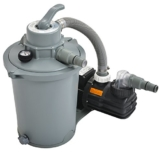 Jilong 290732eu Sandfilteranlage für Pools 6800L/H, 30x 35x 60cm, grau -