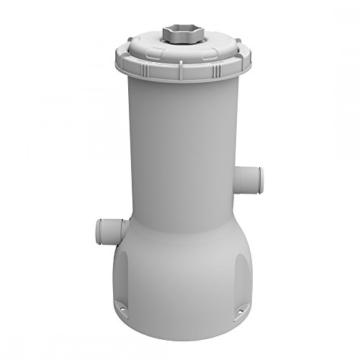 Jilong Pool Filter-Pumpe 1000 gallon, Kartuschenfilteranlage mit 3785 L/h Pumpvolumen, grau, 20x20x41 cm, 29P417DE -