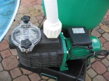 HST Leis Poolfilter Sandfilter 12 m³h Sandfilteranlage Poolpumpe Filter Wagen