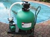 Leis Poolfilter 14m³h Sandfilteranlage Sandfilter Filter 46 Kg Inhalt inkl Wagen -