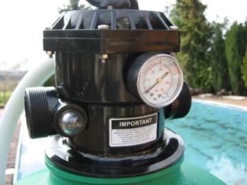 Leis Poolfilter 19m³h Sandfilteranlage Sandfilter Filter 46 Kg Inhalt inkl Wagen -