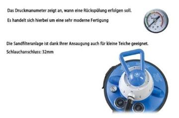Miganeo® Sandfilteranlage 8,5 m³ Pumpe mit integrierter Zeitschaltuhr für Pool bis 33m³ -
