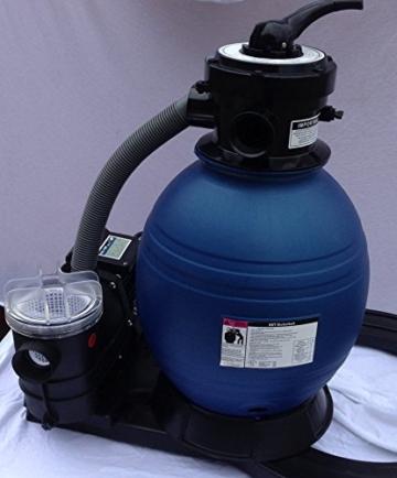 NEU HST Profi Leis Sandfilteranlage 8 m ³ Sandfilter Pumpe 250 W Poolfilter Filter 25kg -
