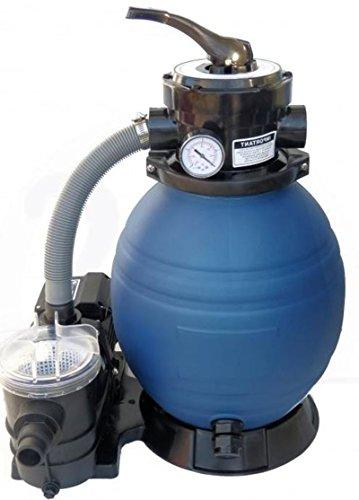 Profi Leis Sandfilteranlage 10 m ³ Sandfilter Pumpe 400 W Poolfilter Filter 25kg -