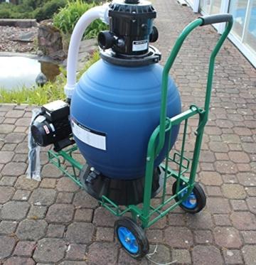 Profi Leis Sandfilteranlage 17 m ³ Sandfilter Pumpe 1000 W Poolfilter Filter 60kg komplett mit Wagen -