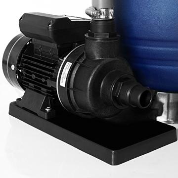 Sandfilter Sandfilteranlage 10 m³/h - Poolfilter Filteranlage Filterkessel -